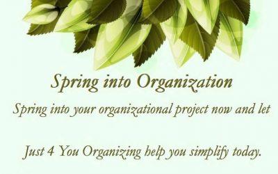 Spring into Organization