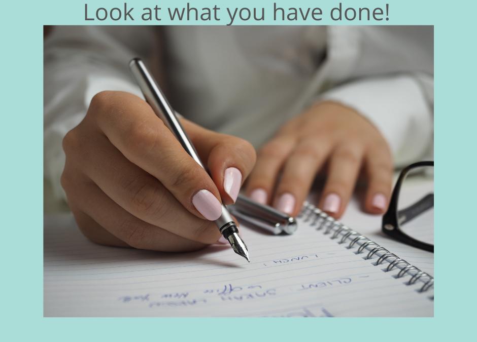 Make an Accomplishment List